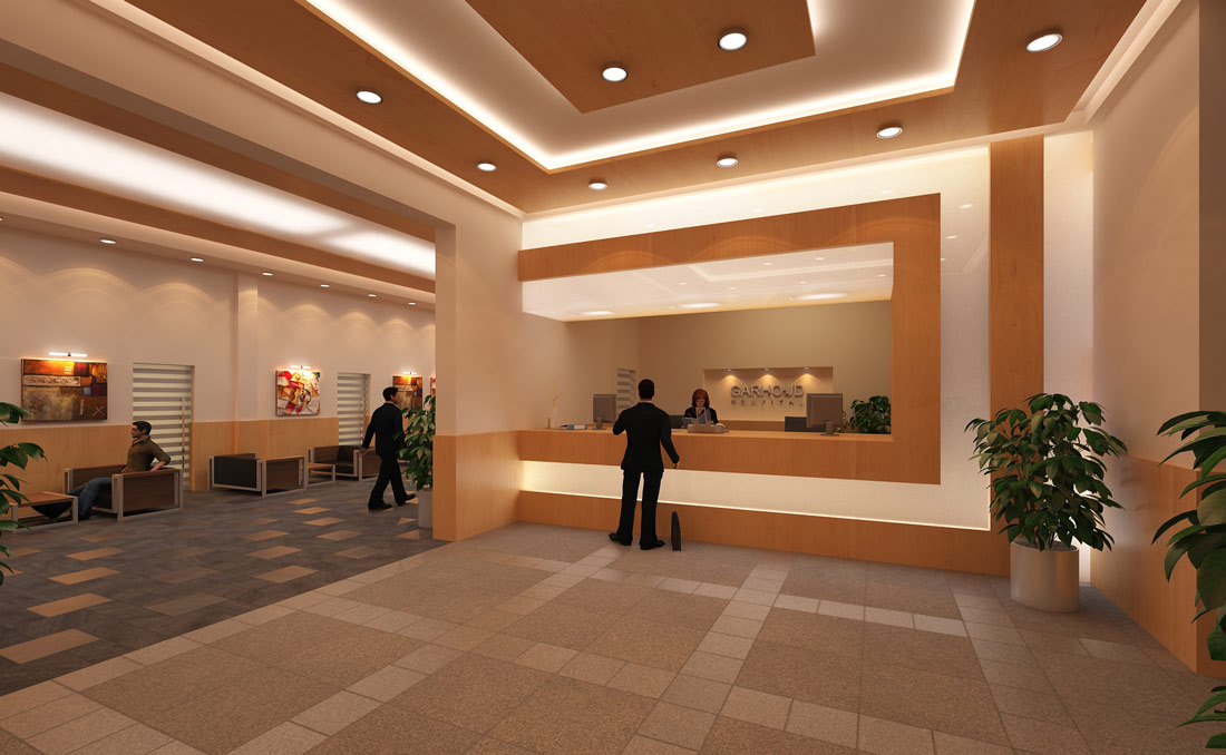 Main entrance hall i hospitals conceptual technical for Drawing hall interior design